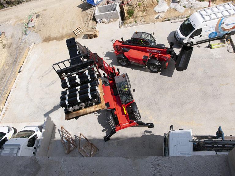 Découvrez le chariot télescopique construction MANITOU MT