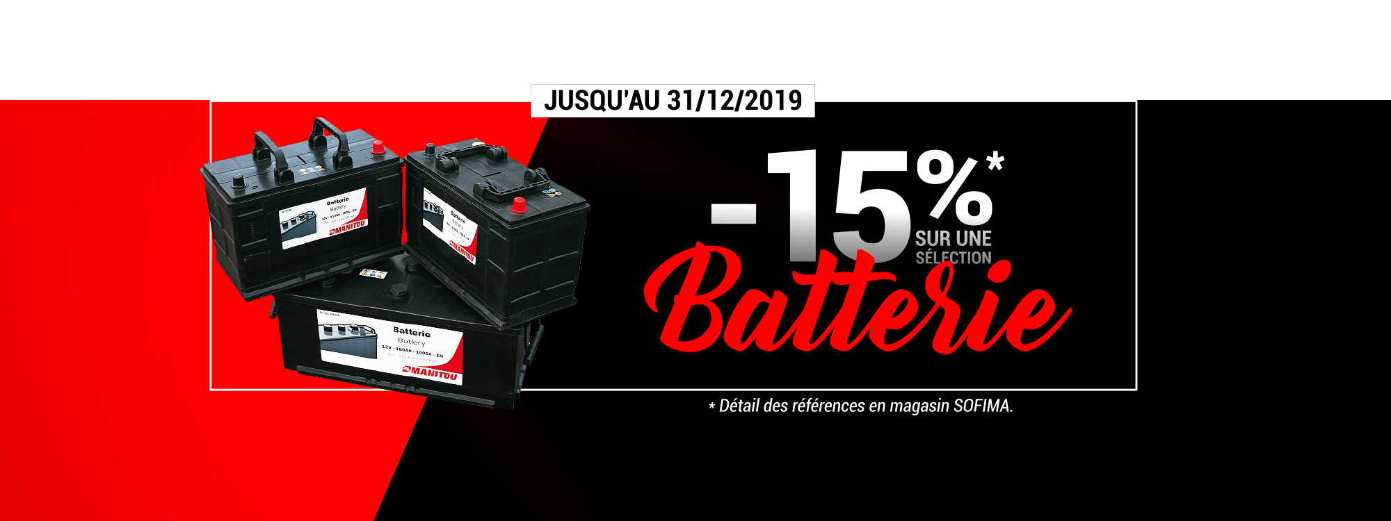 Promotion batterie manitou